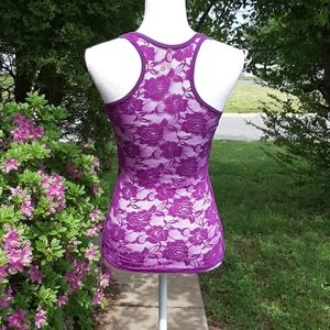 💜 Purple Lace Racerback Tank